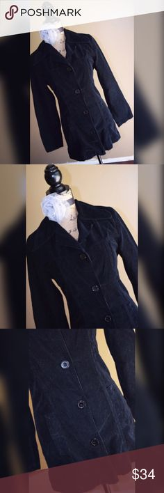 """Vintage American People Blazer Black Corduroy Blazer by American People. Size M. Bust 33"""" lying flat, stretches to 35"""". Waist 30"""" lying flat, stretches to 32"""". Shoulder to hem length 28"""". Can be worn with a dress, a pair of dress pants, or jeans! A great addition to any closet! American People Jackets & Coats Blazers"""