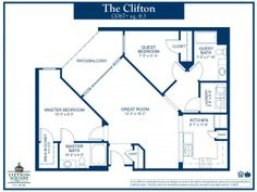 Two bedroom two bath stetson square apartments the for Stetson homes floor plans