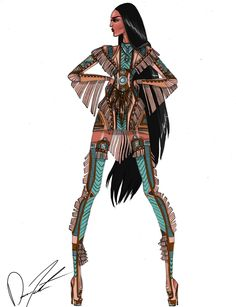 Pocahontas (Fashion by Daren-The-Designer-J @Tumblr) #Pocahontas