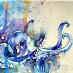 watercolor octopus tattoo   Tumblr