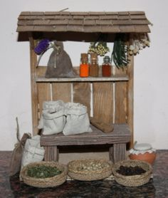Foro de Belenismo - Miniaturas, detalles y complementos -> Puesto de mercado Christmas Program, Christmas And New Year, Picnic Decorations, Christmas Decorations, Medieval Houses, Diy Projects For Beginners, Ceramic Houses, Christmas Nativity, Fairy Houses