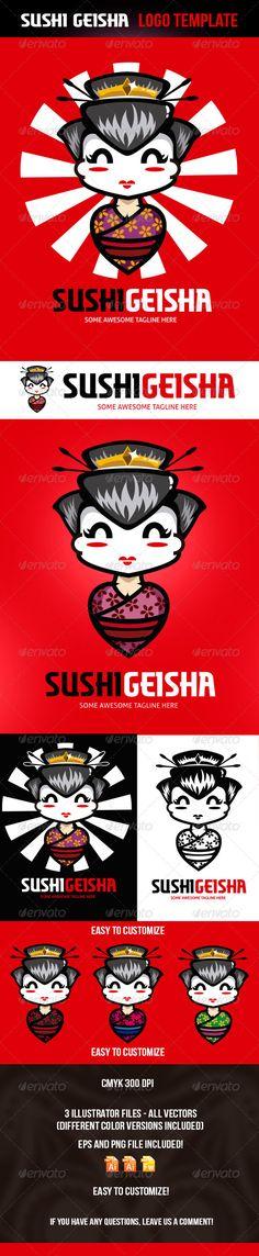 Sushi Geisha Logo Template  #GraphicRiver        Sushi Geisha Logo Template    -