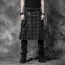 Gothic plaid kilt