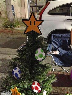 super mario christmas tree