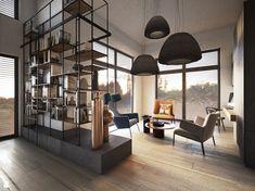 Salon styl Industrialny - zdjęcie od razoo-architekci - Salon - Styl Industrialny - razoo-architekci