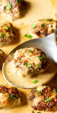 Easy Swedish Meatballs.