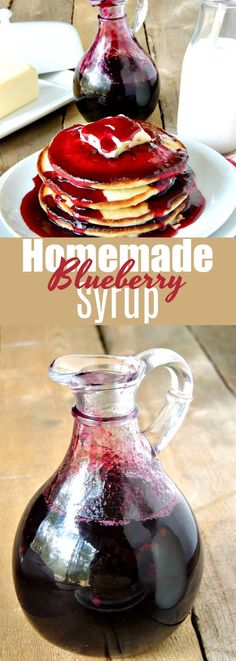 Moscow mule recipe Have a breakfast like Grandma used to make with this easy homemade blueberry syr. Have a breakfast like Grandma used to make with this easy homemade blueberry syrup recipe. Nothing beats homemade! Fruit Syrup Recipe, Blueberry Pancake Syrup Recipe, Blueberry Syrup Recipe For Canning, Blueberry Recipes To Freeze, Healthy Pancake Syrup, Waffle Syrup Recipe, Eat Breakfast, Blueberry Breakfast, Breakfast Casserole