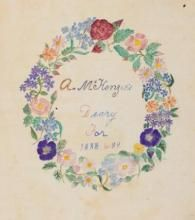Title page for Alice McKenzie's diary, 1888