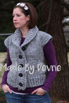 DIGITAL Download Knitted vest KNITTING PATTERN by MadeByDevrie