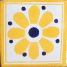 9 MEXICAN TILES WALL OR FLOOR USE TALAVERA MEXICO CERAMIC HANDMADE POTTERY C#098