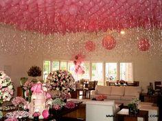 Inspire sua festa » Colando balões no teto