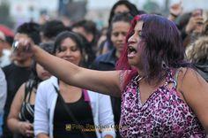 Nezahualcóyotl, Méx. 24 Abril 2013. Caía la tarde y el ánimo crecía entre los asistentes al Encuentro Nacional de Rock.