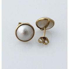 Orecchini in Oro Giallo 18k con Perle Mabè