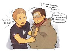 stony avengers | Marvel_-_Avengers_-_Stony_Steve_Rogers_Tony_Stark_Sick_(chakoiking2000 ...