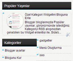 Blogger Sidebar Mavi Sekme Başlık Eklentisi