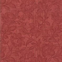 Moda Basicgrey Urban Couture Damask Red Fabric BHY
