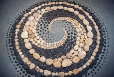 """Confluere"" Art of Balance Exhibition, Summerhall, Edinburgh Stones, Leaves, and Shells Whorl in Hypnotic Land Art by Jon Foreman Land Art, Art Crea, Art Pierre, Balance Art, Art Sculpture, Stone Sculptures, Abstract Sculpture, Bronze Sculpture, Garden Sculpture"