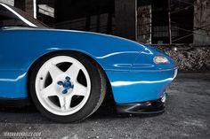 Compomotive MO wheels on Slammed NA Mazda Miata 04