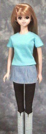 速乾接着剤 Tシャツ 「パプペポ」着せ替え人形の手作り服の作り方