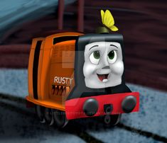 More or less giftart for just because she is an awesome friend and I know she adores Rusty. Yeah, yeah, I know they can't go off tracks and all that jaz. Creepy Guy, Thomas The Tank, Thomas And Friends, Diesel, Engine, Best Friends, Childhood, Train, Deviantart