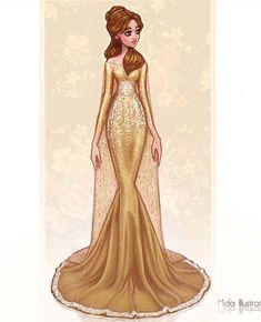 Princesas Disney no tapete vermelho - Just Lia Disney Belle, Disney Prom, Disney Princess Fashion, Disney Princess Drawings, Disney Princess Art, Disney Princess Dresses, Disney Dresses, Princess Style, Disney Fan Art