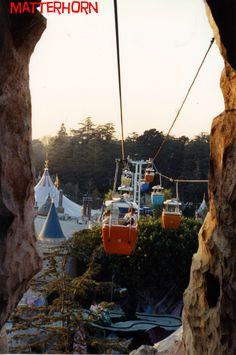 Great view of the Alice In Wonderland from the Skyway as it exits Glacier Grotto, August 1988