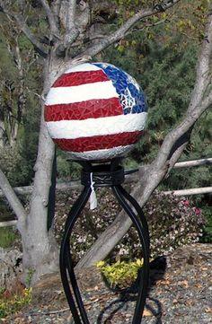 mom would love this! bowling ball mosaic?
