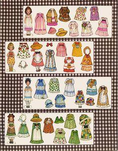 Vintage printable paper dolls!