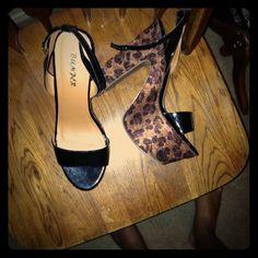 Strappy high platform cheetah heels Strappy high platform cheetah heels Shoes Heels