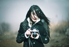 Snowy, Girl, Photograph