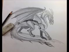 How to draw the basic dragon shape for Western Dragons. Of course, I add on horns or feathers, or change the shape of the legs or wings to match which dragon of mine I am drawing.