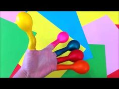 LEARN COLORS with Balloons/Bad Baby Nursery Rhymes Finger Family Songs f...