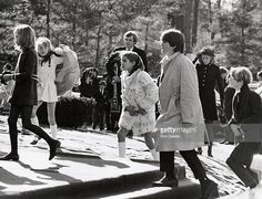 Kennedy Family during Funeral of Joseph Kennedy Sr. at St. Francis of Xavier in Hyannisport, Massachusetts, United States.