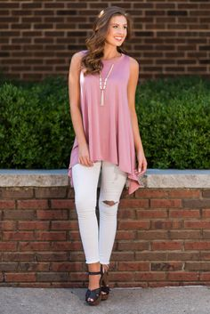 Can't Beat This Tunic, Mauve - The Mint Julep Boutique