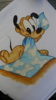 Pintura em tecido | para bebês | pateta | enxoval