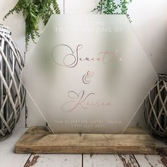 Wedding Signs, Wedding Day, Order Of The Day, Welcome To Our Wedding, Geometric Wedding, Guest Book Alternatives, White Vinyl, Rustic Chic, Personalized Wedding