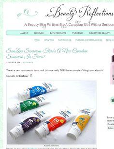 Beauty Reflections reviews SunZone Sunscreens