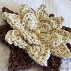 Crochet Flower - Tutorial ❥ 4U hilariafina  http://www.pinterest.com/hilariafina/
