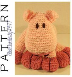 INSTANT DOWNLOAD : KISS Series Pig Crochet by FiberDoodlesbyK4TT
