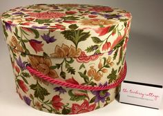Large Hat Box Colorful Floral Ready to ship by TheTeaberryCottage