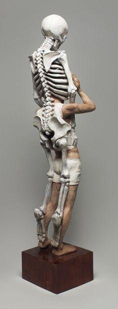 Fantasy | Whimsical | Strange | Mythical | Creative | Creatures | Dolls | Sculptures |  Memento Mori - Side Back View- Artist Yoshitoshi Kanemaki ☆ Wood!!!