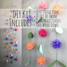 diy tissue paper flower garland