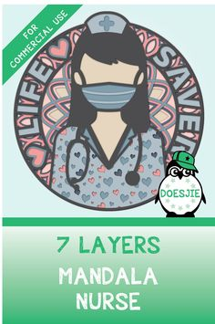 Vinyl Projects, Diy Craft Projects, Nurse Art, 7 Layers, 3d Paper Crafts, Silhouette Cameo Projects, Nurse Life, Layers Design, Design Bundles