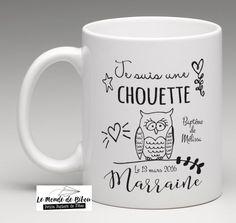 un chouette cadeau pour une chouette marraine - Mug personnalisé