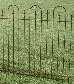 3 Foot Tall Wrought Iron Fence Three Hoop Section