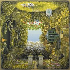 The Fantastic Art of Jacek Yerka Just amazing, it sucks me right in, so many things to discover