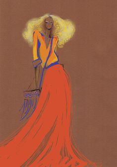 Fashion Illustration Print   That 70s by studiodelafosse on Etsy, €15.00