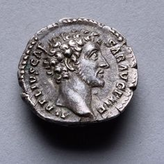 """A silver denarius minted under one of Rome's greatest ever rulers, Emperor Marcus Aurelius. Issued as Caesar, circa 145 AD. The obverse with a fine style portrait of a young Marcus Aurelius. The Latin inscription reading, """"Aurelius Caesar Augustus, Dutiful and Wise"""""""