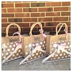 Bridesmaid Gift Package Bridesmaids Burlap Tote by TheBeezeKnees
