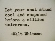 WALT WHITMAN Quote Hand Typed Typewriter Quote by PoetryBoutique